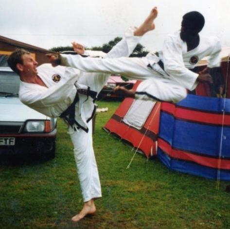 Taekwondo masters Ray Gayle and Mark Ogborne
